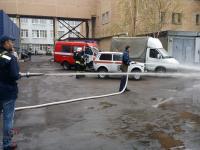 Совместные с МЧС учения по предотвращению пожара на одном из объектов компании