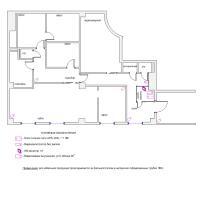 Схема монтажа системы видеонаблюдения офисного помещения (эконом-вариант)